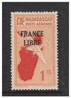 Madagascar - 1943, 1f75 Scarlet & Orange FFA stamp - L/M - SG 246