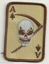 ACE OF SPADES DEATH CARD VIETNAM MILITARY DESERT  PATCH