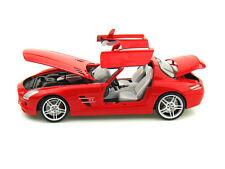 MONDO MOTORS MERCEDES SLS AMG RED w/ White Interior 1:18 NEW STOCK!!!