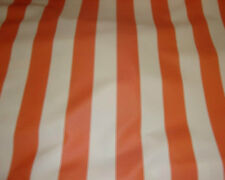 Outdoor Waterproof Upholstery Canvas fabric Orange Ivory Striped 10 yards