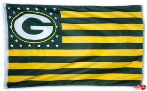 Packers FLAG 3X5 Green Bay 3 x 5 Banner American Football New Fast USA Shipping