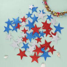 50Pcs Glitter Foam Star Stickers Kids Toy Scrapbooking Kit Early Educational  Mf