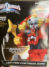 "Toys R Us Exclusive Power Rangers 20"" Ninja Steel Lion Fire Fortress Zord NIB"
