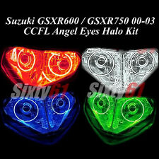 Suzuki GSXR 600 / 750 2000 2001 2002 2003 CCFL Demon Halo Angel Eyes light rings