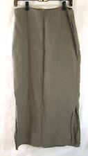 100% Linen 14 Long Skirt Beige Neutral Solid Maxi Jigsaw