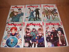 Hetalia Axis Powers Vol.1,2,3,4,5,6  Manga Graphic Novel Bundle Set NEW English
