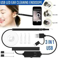 Digital Led Otoscope Ear Camera Scope Earwax Removal Kit Ear Wax Cleaning Tool#