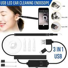 Digital Led Otoscope Ear Camera Scope Earwax Removal Kit Ear Wax Cleaning Tool#