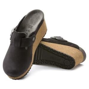 New Women's Papillio by Birkenstock Fanny Suede Clog Shoes Size US 7-7.5 Euro 38