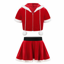 Toddlers Girls Christmas Dress Outfits Short Sleeves Party Skirts Dance Costumes
