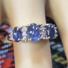 9 ct GOLD  second hand diamond & star sapphire ring