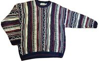VTG COTTON TRADERS Cosby Biggie Textured Sweater Coogie Style Men Size XL Heavy