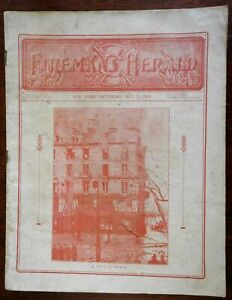 Fireman's Herald 1904 illustrated trade magazine fire fighting engines ads news