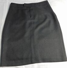 A Byer Women's Vintage Dark Gray Tab Waist Pencil Skirt Made in the USA Size 7