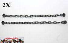 2X Lego® 30104 Kette mit 21 Glieder Chain neues Dunkelgrau Dark Bluish Gray