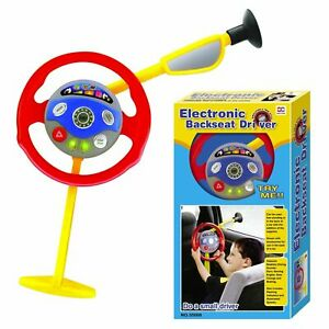 Electronic Backseat Driver Kids Play Steering Wheel Real Noises Travelling Toys