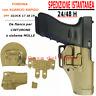 Fondina in polimero per Glock 17 19 SGANCIO RAPIDO da cinturone MOLLE TAN Coyote