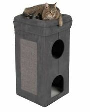Cat Scratching Tower Tree Foldable Sisal Scratching Sides Sheepskin Bed 2 Dens