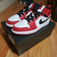 Nike Air Jordan 1 MID (PS) CHICAGO White Heel 640734-173 US Size 2Y