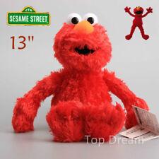 "NEW OFFICIAL Sesame Street ELMO 13"" Beanie Plush Toy Soft Stuffed Doll Teddy RED"