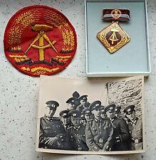 EAST German officer stripe photo badge COLD WAR RARE