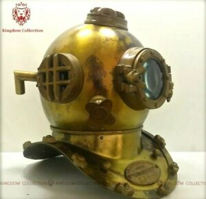 Real Antique Diving Helmet 18 Inch Us Navy Mark V Vintage Divers Helmet Replica