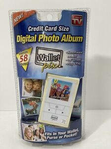 Digital Photo Album Wallet Pix As Seen On TV Displays 58 Photos NEW