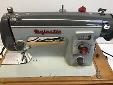 Vintage MAJESTIC Electric Sewing Machine w/ Peddle and Carry Case