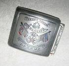 VTG 1930 Peace Memorial Canada / USA Shriner Belt Buckle Rameses 56th Imperial