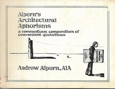 Alpern's Architectural Aphorisms 1979
