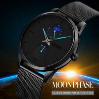 Fashion Mens Analog Military Sport Quartz Stainless Steel Dress Wrist Watch New