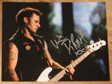 """GREEN DAY - MIKE DIRNT - HAND SIGNED 8"""" X 10"""" COLOUR PHOTO"""