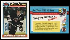 WAYNE GRETZKY ALL-STAR - 1991 TOPPS # 258 - HALL OF FAME - MT! - THE GREAT ONE