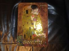 "Chocolates Tin Gustav Klimt ""The Kiss"" Embossed. Rare Item On Ebay."