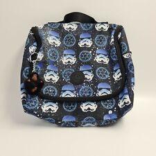 More details for kipling kichirou crossbody star wars stormtrooper lunch bag tote bag blue white