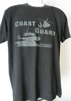 US Coast Guard T-Shirt Black United States America Armed Go Men's FITS MEDIUM