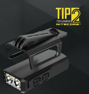 NiteCore TIP2 Cree XP-G3 LED USB Rechargeable Pocket Keychain Flashlight Torch