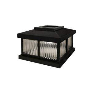 Mail Post Solar Cap Mailbox Light Night Visibility Durable Plastic Black