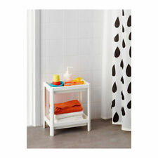 WHITE 2 Tier Free Standing Bathroom Unit Shelves Organiser Caddy Home Storage