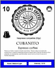 50 Nespresso capsules compatible FRESH ROASTED gourmet coffee CUBANITO strong