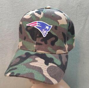 New England Patriots Camouflage Hat Camo Baseball Cap