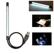 Flexible USB 10 LED Light Lamp For Computer Keyboard Reading Notebook PC Laptop