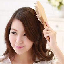 1x Wooden Comb Vent Paddle Brush Keratin Health Hair Care Massage Anti Static'UK