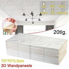 20 Stück 3D Wandpaneele Deckenpaneele Deckenplatten Platten Wasserfest 70X70CM