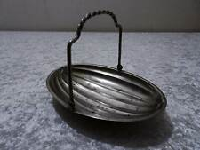 Antique Art Deco Metal Basket Bowl with Handle and Feet Vintage around 1920