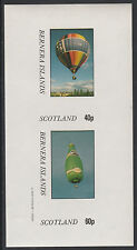 GB Locals - Bernera 2830 - AVIATION - BALLOONS imperf sheetlet unmounted mint
