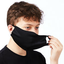 BLACK FABRIC FACE MASK / COVER, THIN COMFY STRETCH FABRIC, BREATHABLE & WASHABLE