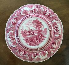 Enoch Wood & Son Historical Red Transferware Plate Belzoni EW&S 19th c. 1830