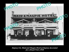 Old Postcard Size Photo Of The Maid & Magpie Hotel Stepney Sa c1940