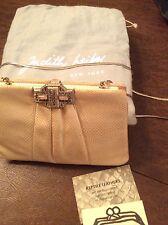 Vintage Authentic Judith Lieber Bone Lizard Evening Bag/ Clutch w/ Comb & Mirror
